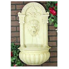 off white outdoor wall hanging fountain