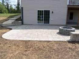 attractive paver patio ideas for hardscape design cool paver patio ideas with firepit and wood
