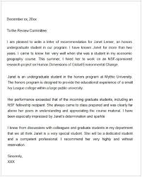 Writing A Reference Letter For A Coworker Sample Sample Letter Of Recommendation For Graduate School From