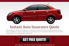 Car Insurance Free Quote Inspiration Auto Insurance Free Quote Effective Ppv Lander Design Auto Insurance