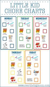 Free Editable Printable Chore Charts Childrens Charts