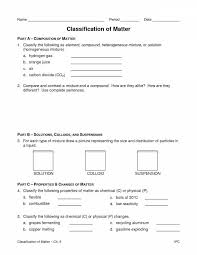 Worksheet Templates : 7 Classification Of Matter S Chemistry 1 ...
