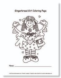 Teachers Printables Gingerbread Girl Coloring Page