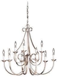 kichler lighting chandelier lighting brushed nickel 9 light chandelier kichler lighting foyer chandelier