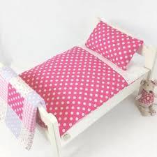 dolls bed pram cot bedding set pink