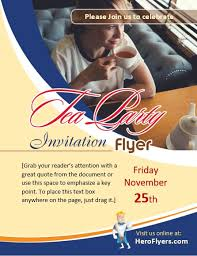invitation flyer free tea party invitation flyer templates in ms word and photoshop