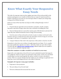 know what exactly your responsive essay needs by justin mark issuu