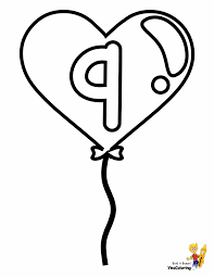 Our free number coloring pages have engaging pictures for each number that children can count and color at the same time. Easy Coloring Pages Free Alphabets 39 Balloon Hearts Abcs 123s