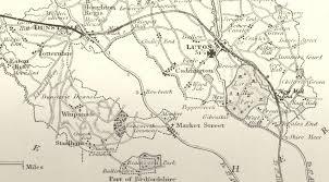 hertfordshire genealogy places bedfordshire hertfordshire border Bedfordshire On Map detail from the british gazetteer bedfordshire bedfordshire on sunday newspaper