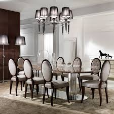 large italian marble oval dining table set