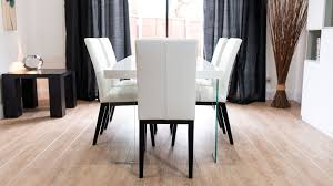 set 6 dining chairs. 4-6 seater white gloss dining table and chairs set 6