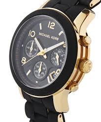 michael kors ladies runway chronograph black amp gold bracelet michael kors ladies runway chronograph black amp gold bracelet watch mk5191