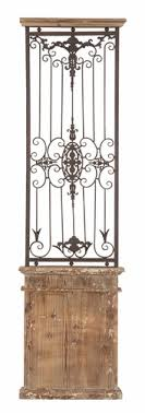 stylish and peaceful iron gate wall decor art designs decorative metal wood antique finished 71 h x on metal gate wall art with iron gate wall decor arsmart fo