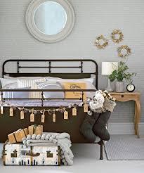 decorative ideas for bedroom. Modren Bedroom Christmasbedroomwithironbedandrusticdecorations On Decorative Ideas For Bedroom D