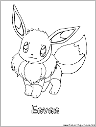 Cute Eevee Pokemon Coloring Pages Pokemon