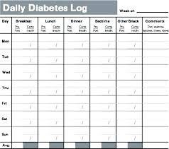 Printable Blood Glucose And Food Log Sugar Chart Gulflifa Co