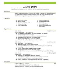 Best Media Planner Resume Example Livecareer