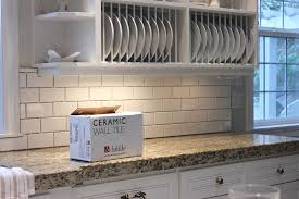 because the original tile was flush and quite straight and removing the granite
