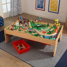 kidkraft waterfall mountain train set table with 120 accessories included