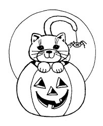 Small Picture Scary Halloween Coloring Page Cat and Spider Halloween Free