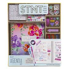 Stmt Diy Agenda Set By Horizon Group Usa Decorate Your Ultimate Planner Organizer Diary With Debossed Regular Stickers Sticky Notes Glitter