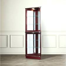 small curio cabinet with glass doors corner curio cabinet with glass doors medium size of corner