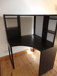 ikea micke corner desk black brown