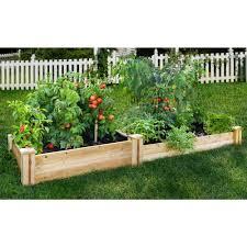 Kitchen Garden Fence Greenes Fence 48 In X 96 In Cedar Raised Garden Bed Rc 4c8t2