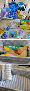baby blue diy baby shower gift basket ideas for boys