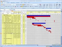 Free Excel Gantt Chart Template Download 36 Templates Powerpoint