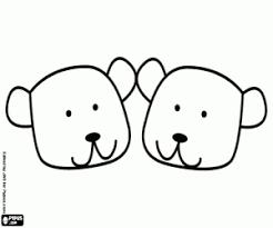 Kleurplaat Teddy Beer Gezichten Pantoffel Kleurplaten