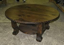 ... Western Coffee Table Round Western Rustic Coffee And End Tables Rustic  Round Coffee Table Distressed Wood ...