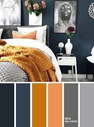 bedroom navy blue golden wheat