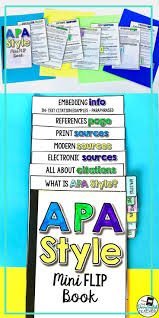 Apa Style 6th Edition Mini Flip Book Tpt Language Arts Lessons