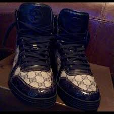 black gucci shoes for men high tops. gucci shoes - 💥sold💥gucci men high-top lace up sneakers. black for high tops