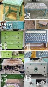diy furniture refinishing projects. stenciled furniture inspiration diy refinishing projects