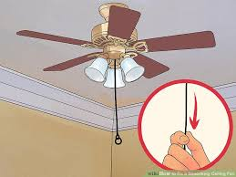 image titled fix a squeaking ceiling fan step 1