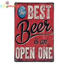 best beer is open vintage tin sign bar pub home wall decor retro metal poster