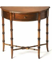 antique sofa table for sale. Handmade Butler Skilling Antique Cherry (Red) Demilune Console Table (China) (Medium Sofa For Sale