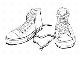 converse shoes clipart. pin drawn converse tennis shoe #1 shoes clipart