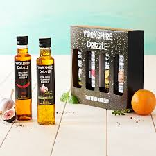 seed oil and balsamic vinegar gift set by yorkshire drizzle notonthehighstreet