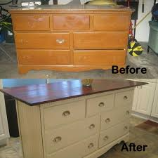 Furniture Wonderful Diy Kitchen Island From Dresser 8 Amazing Diy