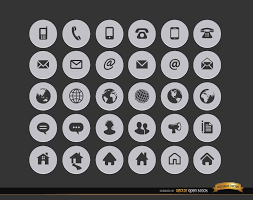 Resume Icons Stunning 60 Internet Contact Circle Icons Vector Download