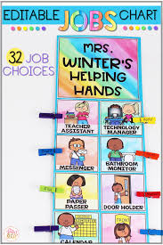 First Grade Job Chart Classroom Jobs Chart Editable Mrs Winters Bliss Store And