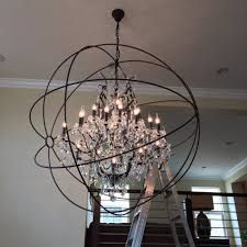 image of spectacular orb crystal chandelier