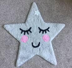 sweet dreams grey star nursery childrens bedroom rug mat modern playroom