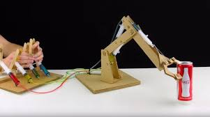 Homemade Tip Up Designs Making An Impressive Working Robotic Arm From Cardboard Make