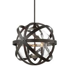 Contemporary outdoor pendant lighting Large Strapped Seeded Globe Outdoor Pendant Englishbronze Shades Of Light Strapped Seeded Globe Outdoor Pendant Shades Of Light