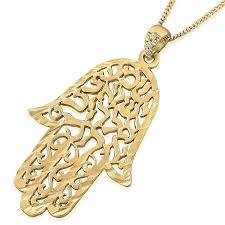 interior 14k gold shema yisrael hamsa necklace with diamonds jewish jewelry gold hamsa necklace house