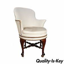 remarkable antique office chair. remarkable antique office chair elgin simonds queen anne white leather swivel desk vanity r